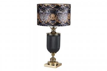 LAMPARA SOBREMESA CRISTAL NEOBARROCA 46x46x86 CM