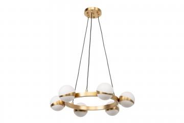 LAMPARA TECHO COBRE BORKEN 67x67x130 CM